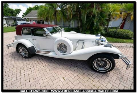 1982 Excalibur Phaeton for sale at American Classic Car Sales in Sarasota FL