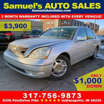 2002 Lexus LS 430 for sale at Samuel's Auto Sales in Indianapolis IN