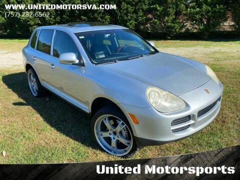 2004 Porsche Cayenne for sale at United Motorsports in Virginia Beach VA