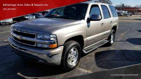 2002 Chevrolet Tahoe for sale at Advantage Auto Sales & Imports Inc in Loves Park IL