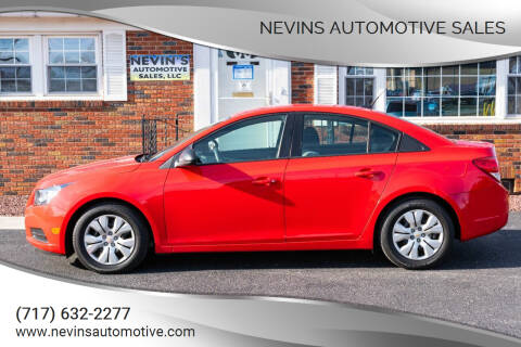 2014 Chevrolet Cruze for sale at Nevins Automotive Sales in Hanover PA