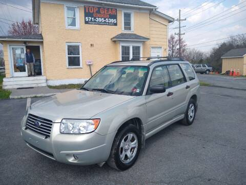 2006 Subaru Forester for sale at Top Gear Motors in Winchester VA