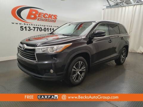 2016 Toyota Highlander for sale at Becks Auto Group in Mason OH