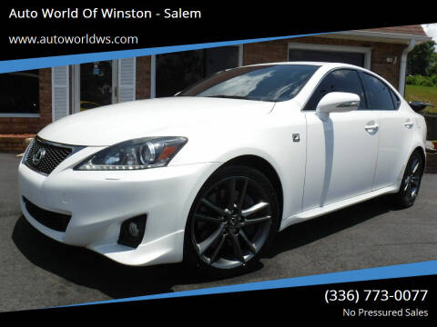 2012 Lexus IS 350 for sale at Auto World Of Winston - Salem in Winston Salem NC