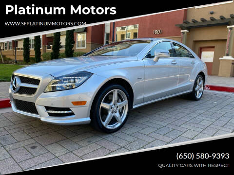 2012 Mercedes-Benz CLS for sale at Platinum Motors in San Bruno CA