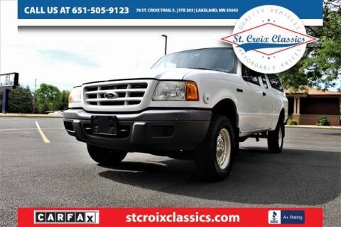 2001 Ford Ranger for sale at St. Croix Classics in Lakeland MN