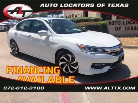 2017 Honda Accord for sale at AUTO LOCATORS OF TEXAS in Plano TX