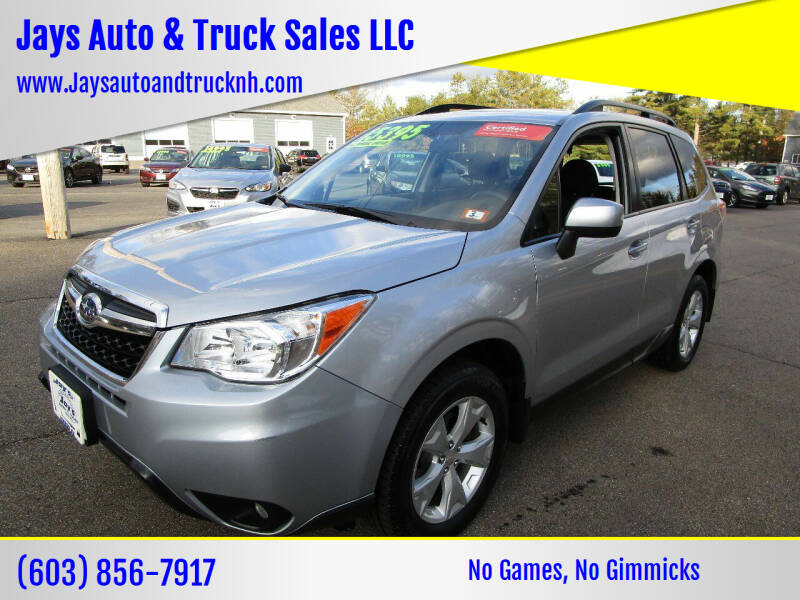 2016 Subaru Forester for sale at Jays Auto & Truck Sales LLC in Loudon NH