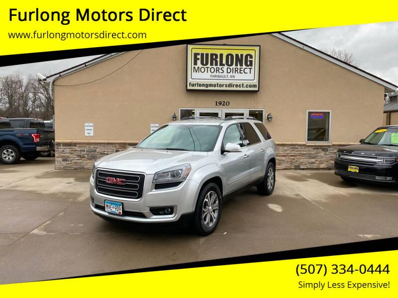 2013 GMC Acadia for sale at Furlong Motors Direct in Faribault MN