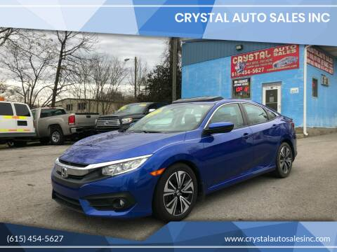 2017 Honda Civic for sale at Crystal Auto Sales Inc in Nashville TN