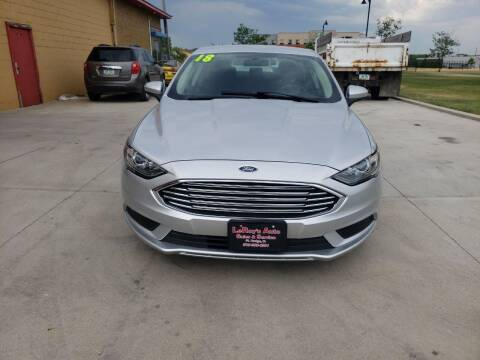 2018 Ford Fusion for sale at LEROY'S AUTO SALES & SVC in Fort Dodge IA