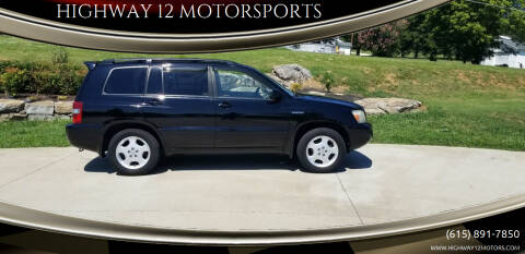2005 Toyota Highlander for sale at HIGHWAY 12 MOTORSPORTS in Nashville TN