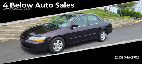 1998 Honda Accord for sale at 4 Below Auto Sales in Willow Grove PA