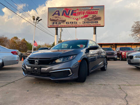 2019 Honda Civic for sale at ANF AUTO FINANCE in Houston TX
