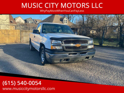 2005 Chevrolet Silverado 1500 for sale at MUSIC CITY MOTORS LLC in Nashville TN