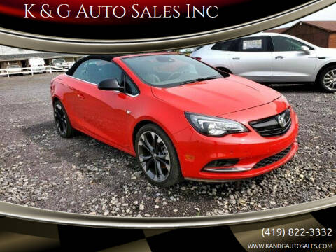2019 Buick Cascada for sale at K & G Auto Sales Inc in Delta OH