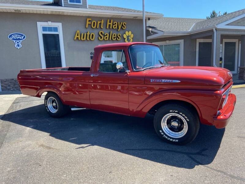 1962 Ford F100 TRUCK for sale at Fort Hays Auto Sales in Hays KS