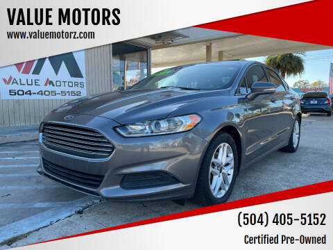 2014 Ford Fusion for sale at VALUE MOTORS in Kenner LA