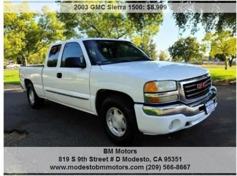 2003 GMC Sierra 1500 for sale at BM Motors in Modesto CA