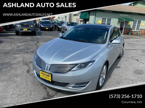 2015 Lincoln MKZ for sale at ASHLAND AUTO SALES in Columbia MO