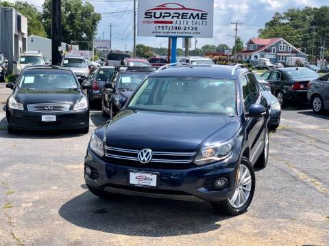 2012 Volkswagen Tiguan for sale at Supreme Auto Sales in Chesapeake VA