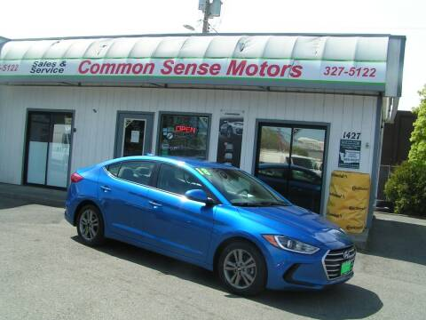 2018 Hyundai Elantra for sale at Common Sense Motors in Spokane WA