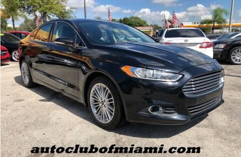 2016 Ford Fusion for sale at AUTO CLUB OF MIAMI, INC in Miami FL