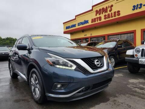 2018 Nissan Murano for sale at Popas Auto Sales in Detroit MI