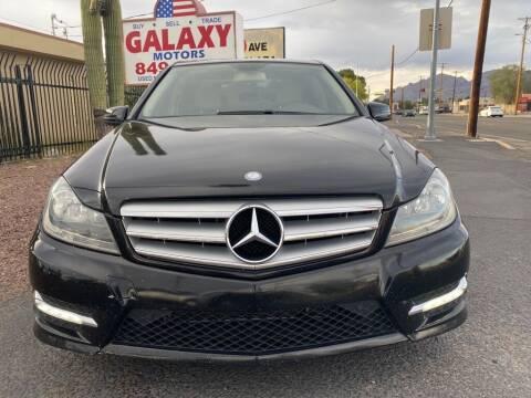2013 Mercedes-Benz C-Class for sale at GALAXY MOTORS in Tucson AZ
