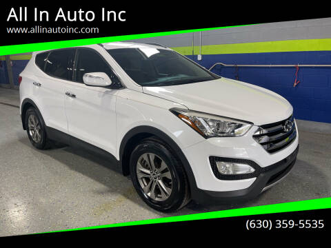 2014 Hyundai Santa Fe Sport for sale at All In Auto Inc in Addison IL