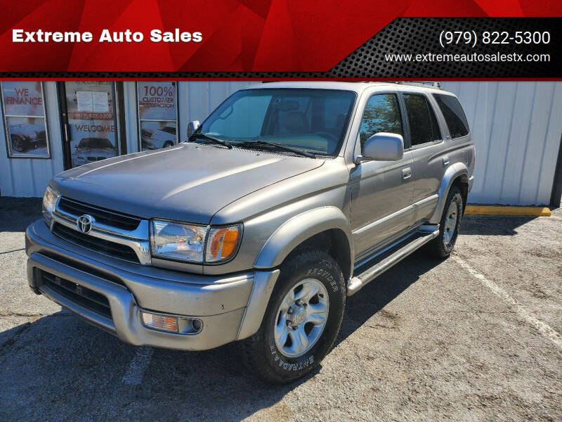 2001 Toyota 4Runner for sale at Extreme Auto Sales in Bryan TX