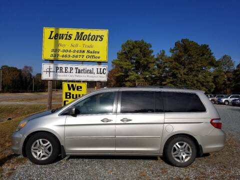 2006 Honda Odyssey for sale at Lewis Motors LLC in Deridder LA