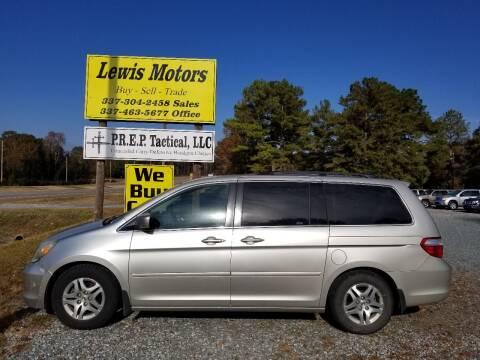 2006 Honda Odyssey for sale at Lewis Motors LLC in Deridder LA