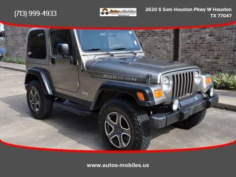 2003 Jeep Wrangler for sale at AUTOS-MOBILES in Houston TX