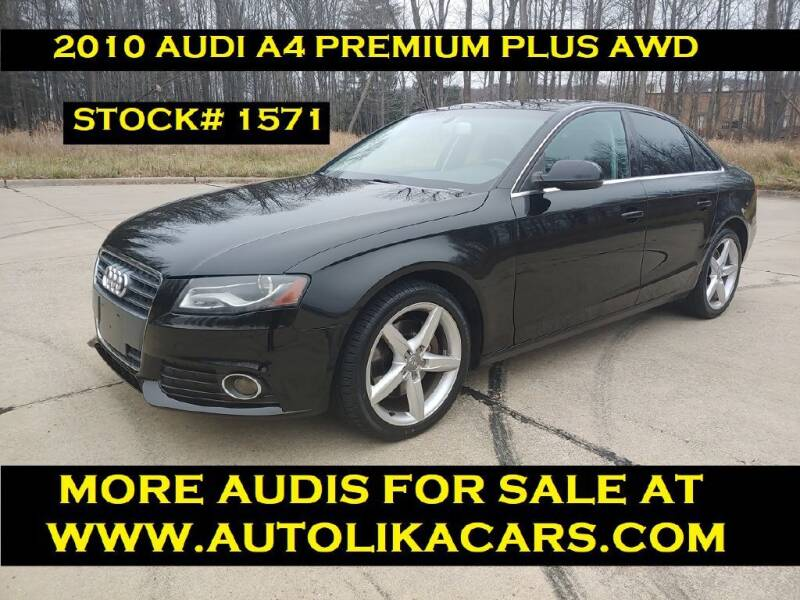 2010 Audi A4 for sale at Autolika Cars LLC in North Royalton OH