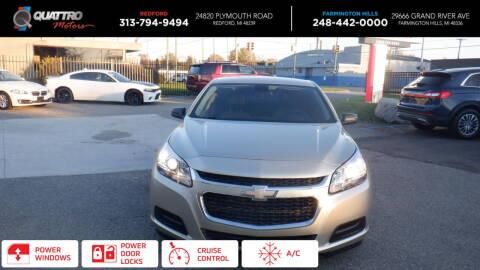 2014 Chevrolet Malibu for sale at Quattro Motors 2 - 1 in Redford MI