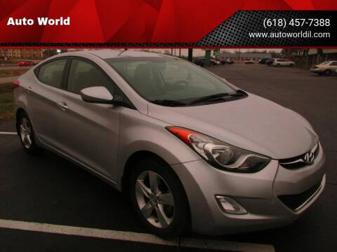 2013 Hyundai Elantra for sale at Auto World in Carbondale IL