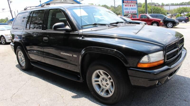2001 Dodge Durango for sale at NORCROSS MOTORSPORTS in Norcross GA
