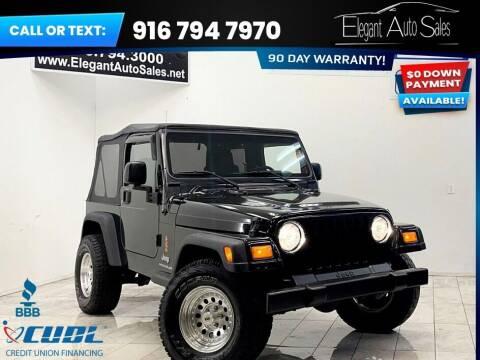 2006 Jeep Wrangler for sale at Elegant Auto Sales in Rancho Cordova CA