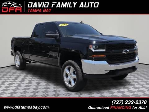 2018 Chevrolet Silverado 1500 for sale at David Family Auto in New Port Richey FL