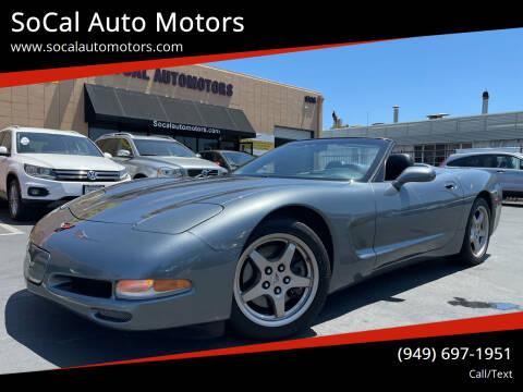 2004 Chevrolet Corvette for sale at SoCal Auto Motors in Costa Mesa CA