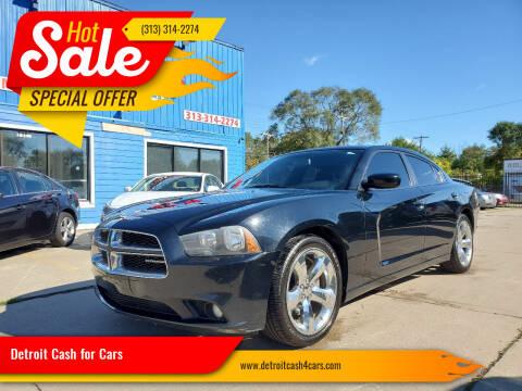 2012 Dodge Charger for sale at Detroit Cash for Cars in Warren MI