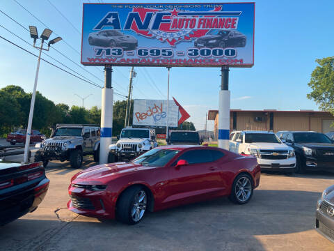 2016 Chevrolet Camaro for sale at ANF AUTO FINANCE in Houston TX