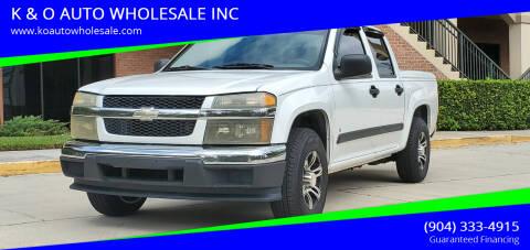 2006 Chevrolet Colorado for sale at K & O AUTO WHOLESALE INC in Jacksonville FL
