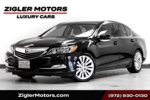 2014 Acura RLX for sale at Zigler Motors in Addison TX