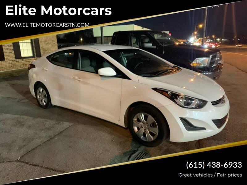 2016 Hyundai Elantra for sale at Elite Motorcars in Smyrna TN