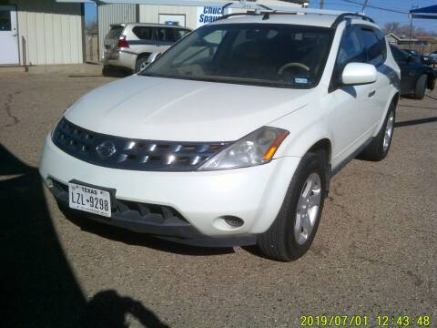 2005 Nissan Murano for sale at Chuck Spaugh Auto Sales in Lubbock TX