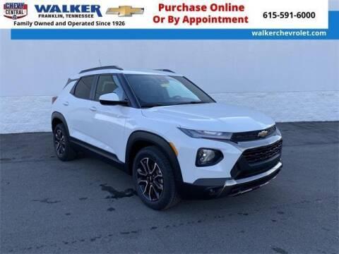 2021 Chevrolet TrailBlazer for sale at WALKER CHEVROLET in Franklin TN