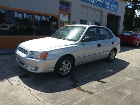 2002 Hyundai Accent for sale at QUALITY AUTO SALES OF FLORIDA in New Port Richey FL
