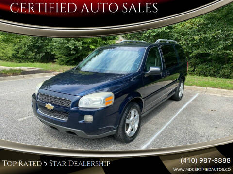 2005 Chevrolet Uplander for sale at CERTIFIED AUTO SALES in Severn MD